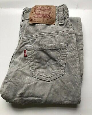 J1334 Levi's Girls Beige Corduroy Trousers Age 7 Years