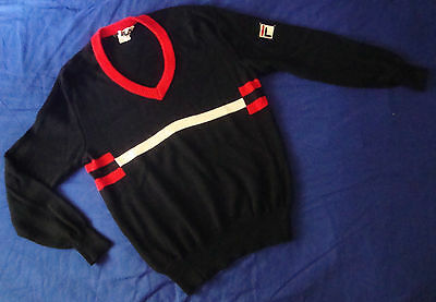 SWEATER vintage '80s FILA era Borg TG.52  veste M/L   made in Italy RARE