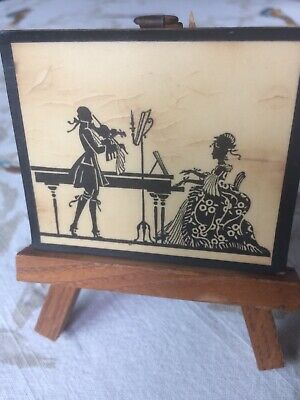 ANTIQUE DOLLHOUSE WOOD/LAMINATED? Victorian Silhouette WALL ART