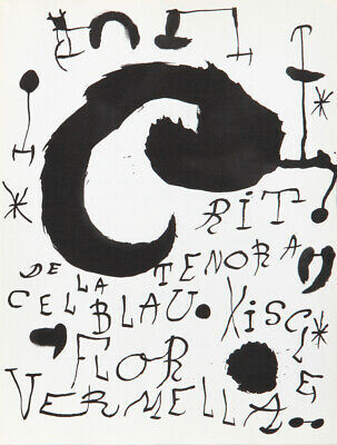 Joan Miro, Les Essencies de la Tierra 3, Lithograph on Guarro