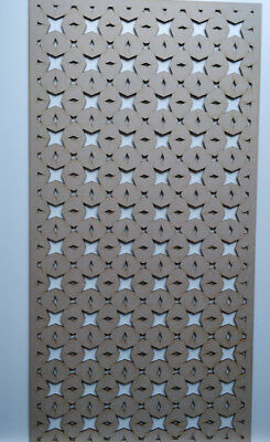Radiator Cabinet Decorative Screening Perforated 3mm & 6mm thick MDF laser cutE3