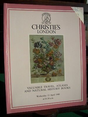 Christie's catalogue: Valuable Travel, Atlases and Natural History Books (1988)