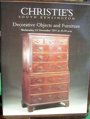 Christie's of London catalogue: Decorative Objects & Furniture (November 1997)