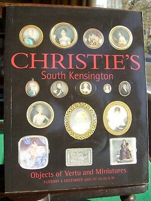 Christie's (London) catalogue: Objects of Vertu and Miniatures (December 2001)