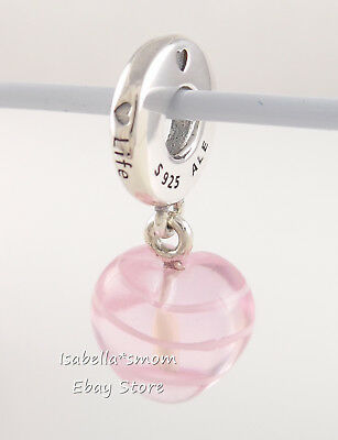 Authentic Pandora Charm Bead Rose Gold Pattern Of Love Dangle 787040 #27 Charms & Charm Bracelets