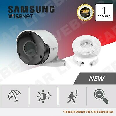 SAMSUNG WISENET SUPERHD 5MP 8 Channel 8 Camera Video Security System