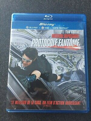 """Blu-Ray + DVD """" Mission Impossible Protocole Fantôme  """" comme neuf"""