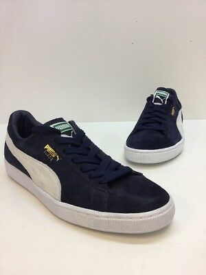 cbb5eec258e PUMA SUEDE CLASSIC Fof Mens Black Suede Low Top Lace Up Sneakers ...