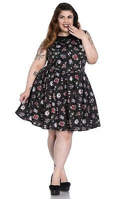 a3e5c13428 HELL BUNNY PLUS Size Goth Wednesday Addams Spiderweb Miss Muffet ...