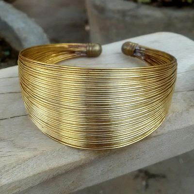 Beautiful Trendy Charming Stylish Golden Plated Wire Handmade Bracelet