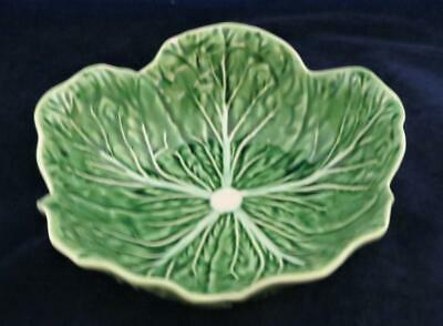 Bordallo Pinheiro, Portugal, Cabbage Green, Coupe Soup Bowl, 6 3/4""