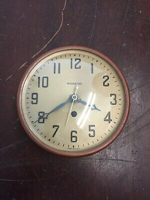 Vintage Hammond Synchronous Wall Clock For Parts or Repair