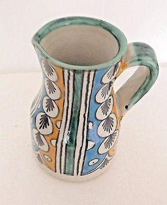 Hand Painted Ceramic  Milk Jug * Water Pitcher * Fes Pottery