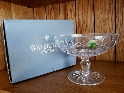 Waterford Crystal Lismore Footed Pedestal Dessert /Candy COMPOTE BOWL