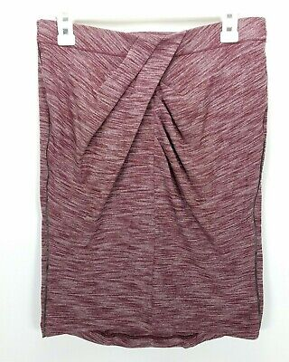 0a5295308 Lululemon &go Where To Skirt 10 Heathered Bordeaux Space Dye Pencil Twist  Front