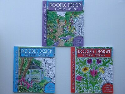 Doodle Design Colouring Book for all Ages (Choice of 3)