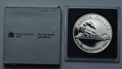 1986 Canada Vancouver $1 Dollar Commemorative The Completion of the Railroad