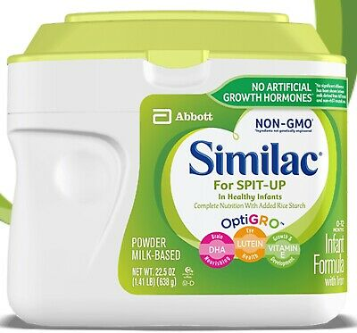** 6x Similac Infant Baby Formula For Spit-Up 22.5 oz 1.45 LB Can Powder NON GMO