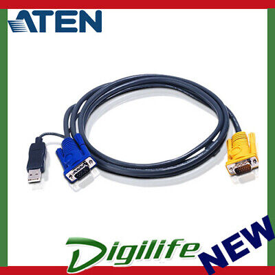 Aten 3M USB KVM Cable with 3 in 1 SPHD and built-in PS/2 to USB converter