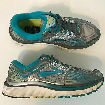 150321ab11964 Brooks Glycerin 13 Womens Running Shoes SZ 7 3D Fit Print Wolf Gray Blue  Teal