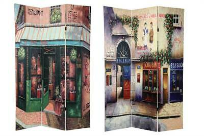3-Panel Double Sided Parisian Street Room Divider [ID 92466]