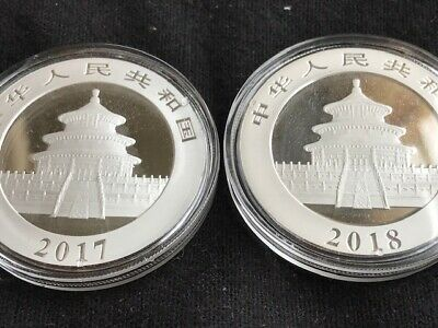 2018 and 2017 China PANDA SILVER 1 oz Guaranteed Authentic! Original Capsule