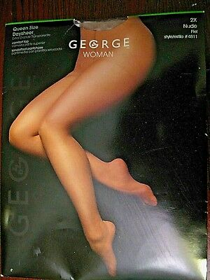 650bed5ab25f6 NIP George woman Nude Comfort Top Sandalfoot Pantyhose Womens Plus Size 2x