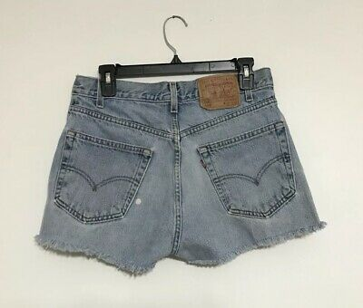 "fe05837e Vintage Levi's 505 Cut Off Jean Shorts 31"" High Waisted Cutoff Denim  ""Boyfriend"""