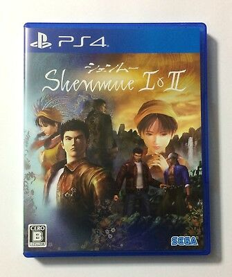 USED PS4 Shenmue I & II 1 and 2 JAPAN Sony PlayStation 4 import Japanese game