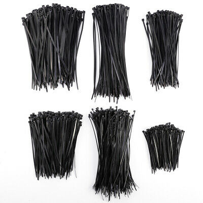 1000pcs 4-7.9 Inch Nylon Black 18 Lbs UV Weather Resistant Wire Cable Ties Zip