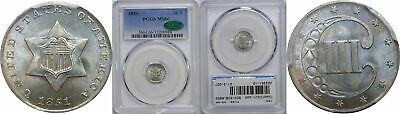 1851 Silver Three Cent Piece PCGS MS-66 CAC