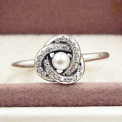075c272ac Authentic 925 Sterling Silver Luminous Love Knot Pear Clear CZ Ring size 6  7 8 9