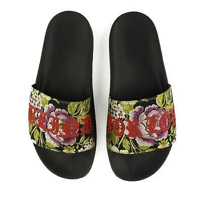 8ff7df141 GUCCI SANDALS PURSUIT Floral Jacquard Blind For Love Pool Slides NEW ...