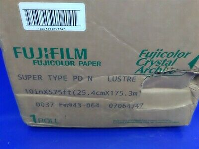 "Fujifilm Fujicolor 10"" x 575' Crystal Archive Paper Roll LUSTRE Super Type PD N"