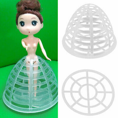5Pcs Girl Dolls Plastic Pannier Petticoat Bustle Cage Underskirt with Clear Base
