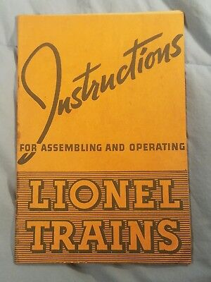 1935 Instructions For Assembling And Operating Lionel Trains Orange Cover
