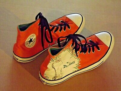 286feb3de3d3 Like us on Facebook · Converse All Star Dr. SEUSS How The Grinch Stole  Christmas Orange Men s 9.5 EXC!