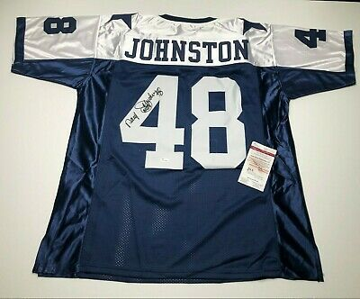 detailed look bf64b 73f8a ROBERT NEWHOUSE AUTOGRAPHED Blue Dallas Cowboys Football ...