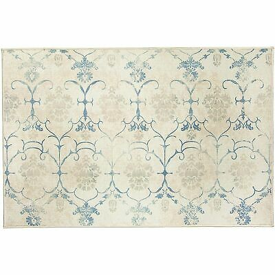 Ruggable Washable Leyla Creme Vintage 3' x 5' Stain Resistant Accent Rug