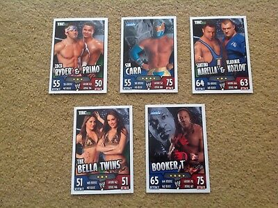 "40 Topps  "" Slam Attax ""  Wwe Rumble 2011 Trading Cards All Different Base Cards"