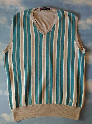 VEST Gilet vintage 80s CONTE of FLORENCE TG.L made in Italy  RARE