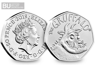 2019 The Gruffalo Brilliant Uncirculated 50p Fifty Pence Coin -fantastic gift