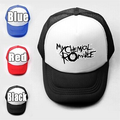 MY CHEMICAL ROMANCE Girls Boys Plain Trucker Baseball Cap Solid Mesh Curved Hats