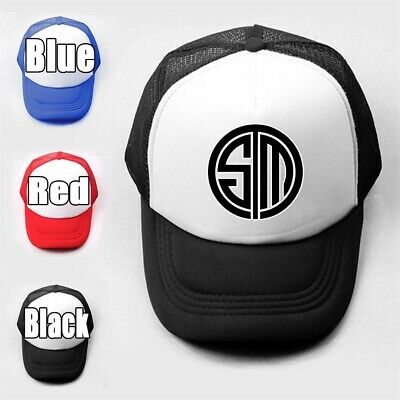 Funny Cute TSM Girls Boys Plain Trucker Baseball Cap Solid Mesh Curved Visor Hat