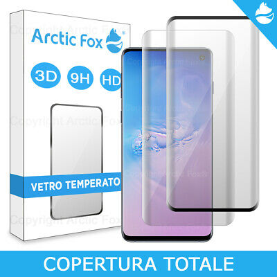 Pellicola Vetro Temperato Copertura Totale Display Samsung Galaxy S10 Plus S10e