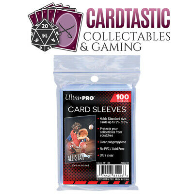 "Ultra Pro Card Sleeves 2 5/8"" x 3 5/8"" 100ct"