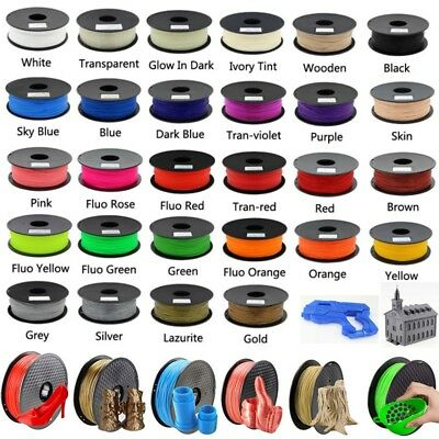 3D Drucker Filament Rolle PLA 1,75mm Printer Filament Spule Trommel Patrone 1KG