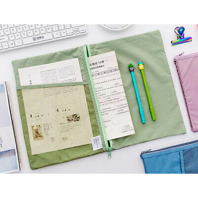 Portable Pouch Foldable Document Folder Storage Pouch Package for A4 Paper TL