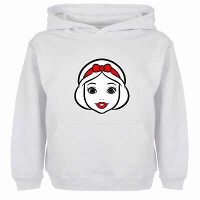 Boys Girls Hoodies Sweatshirt Pullover Disney Princess Snow White Head Kids Gift