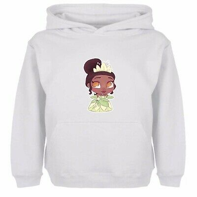Boy Girl Hoodies Sweatshirt Pullover Disney Princess Petite Tiana Kids Gift Tops